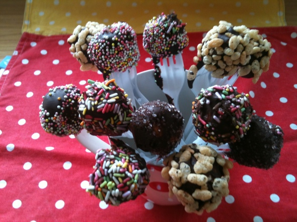 Homemade chocolate covered marshmallows