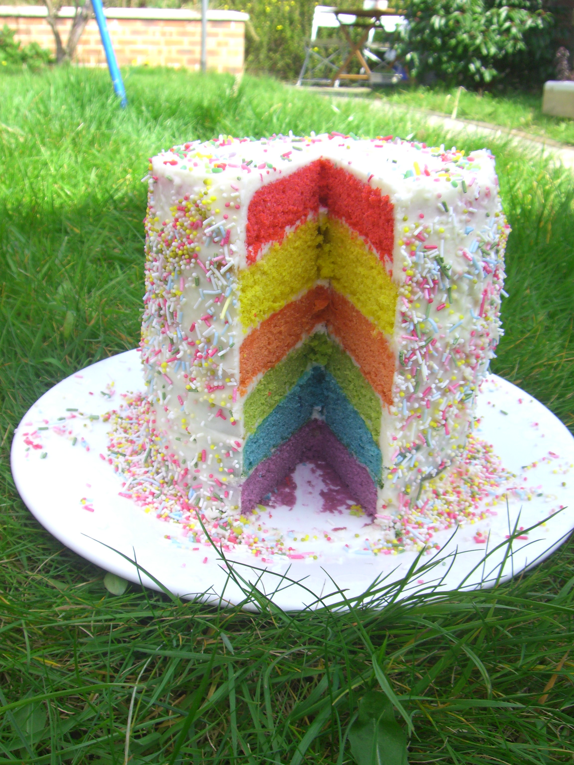 Layer Rainbow Cake Romeinfor