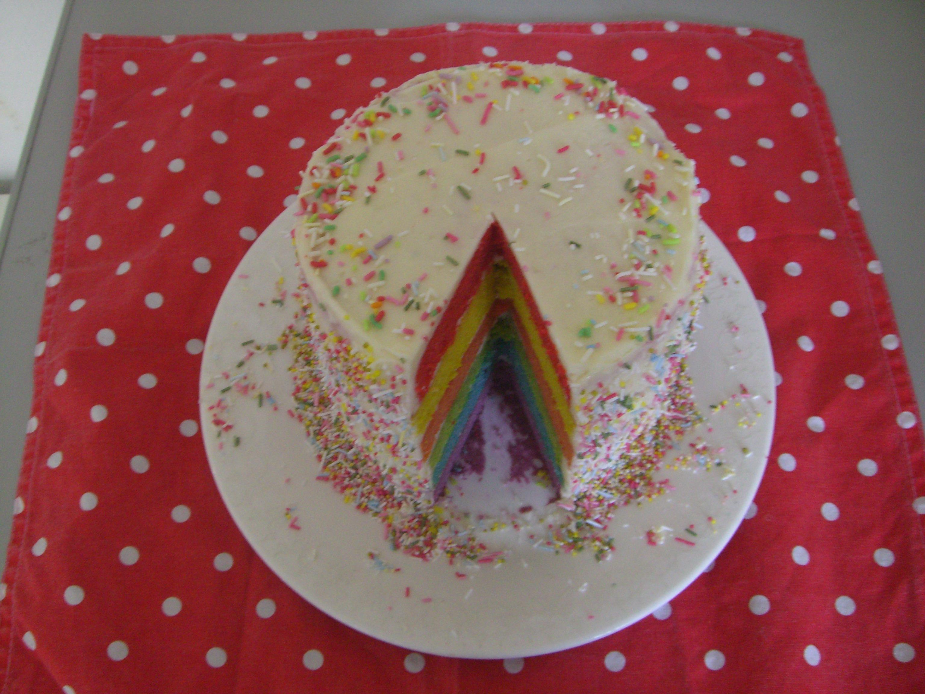 Rainbow Cake Kerry Cooks