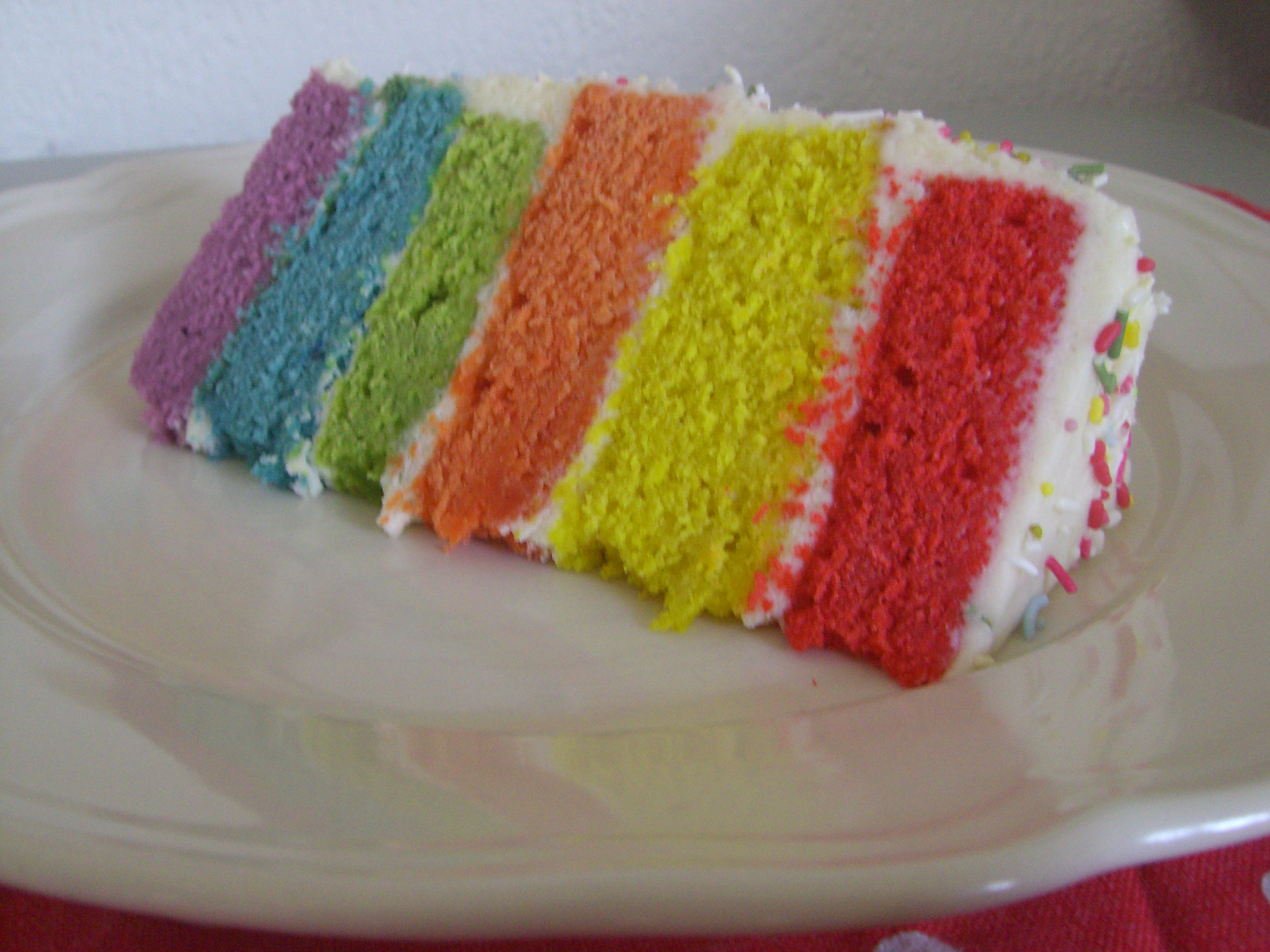 Rainbow Layer Cake Order