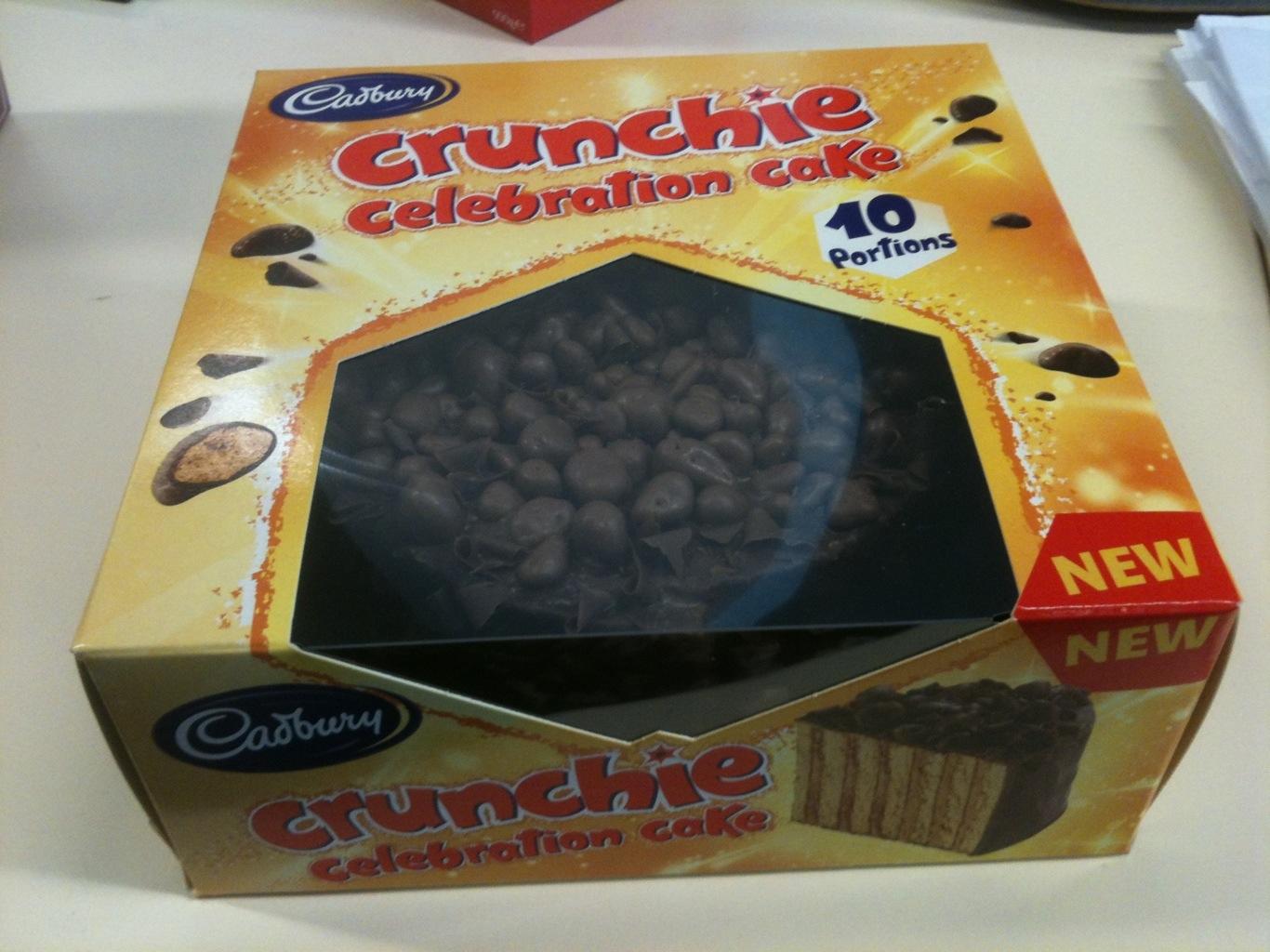 New Cadbury Crunchie cake - disappointing