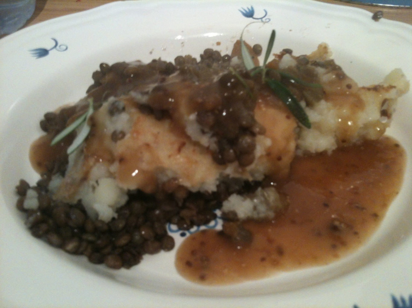 Lentil Shepard's Pie with Mashed Potato and Rosemary Gravy