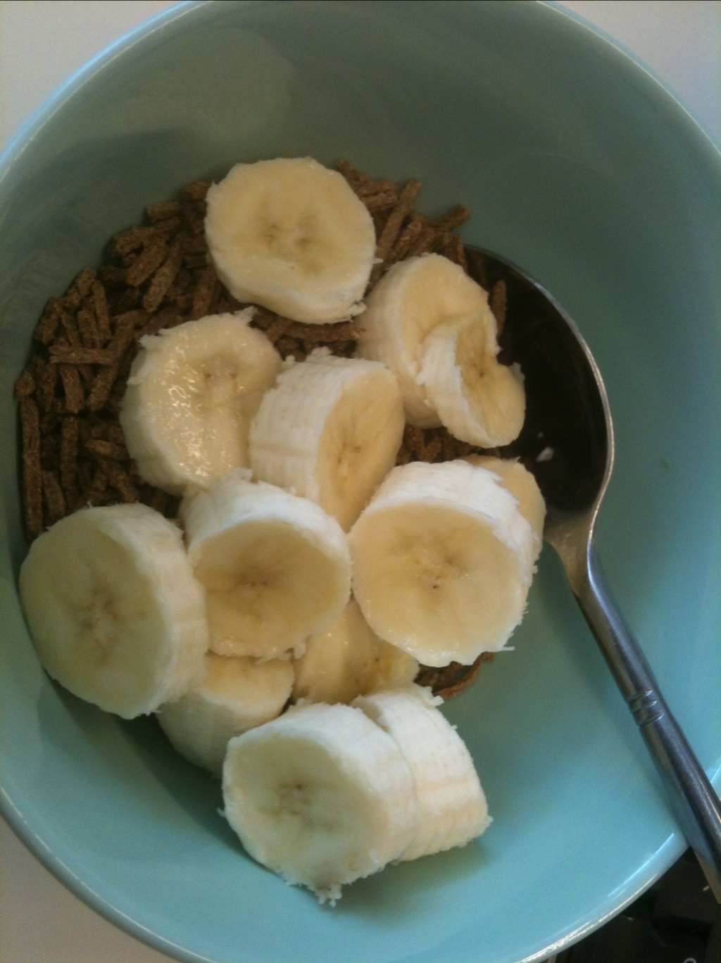 All-bran with banana and milk