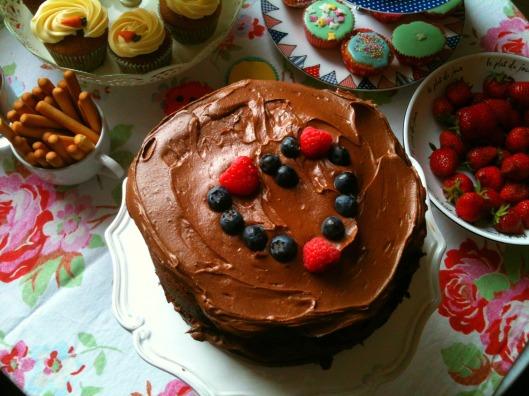 Decadent Chocolate Brownie Celebration Cake