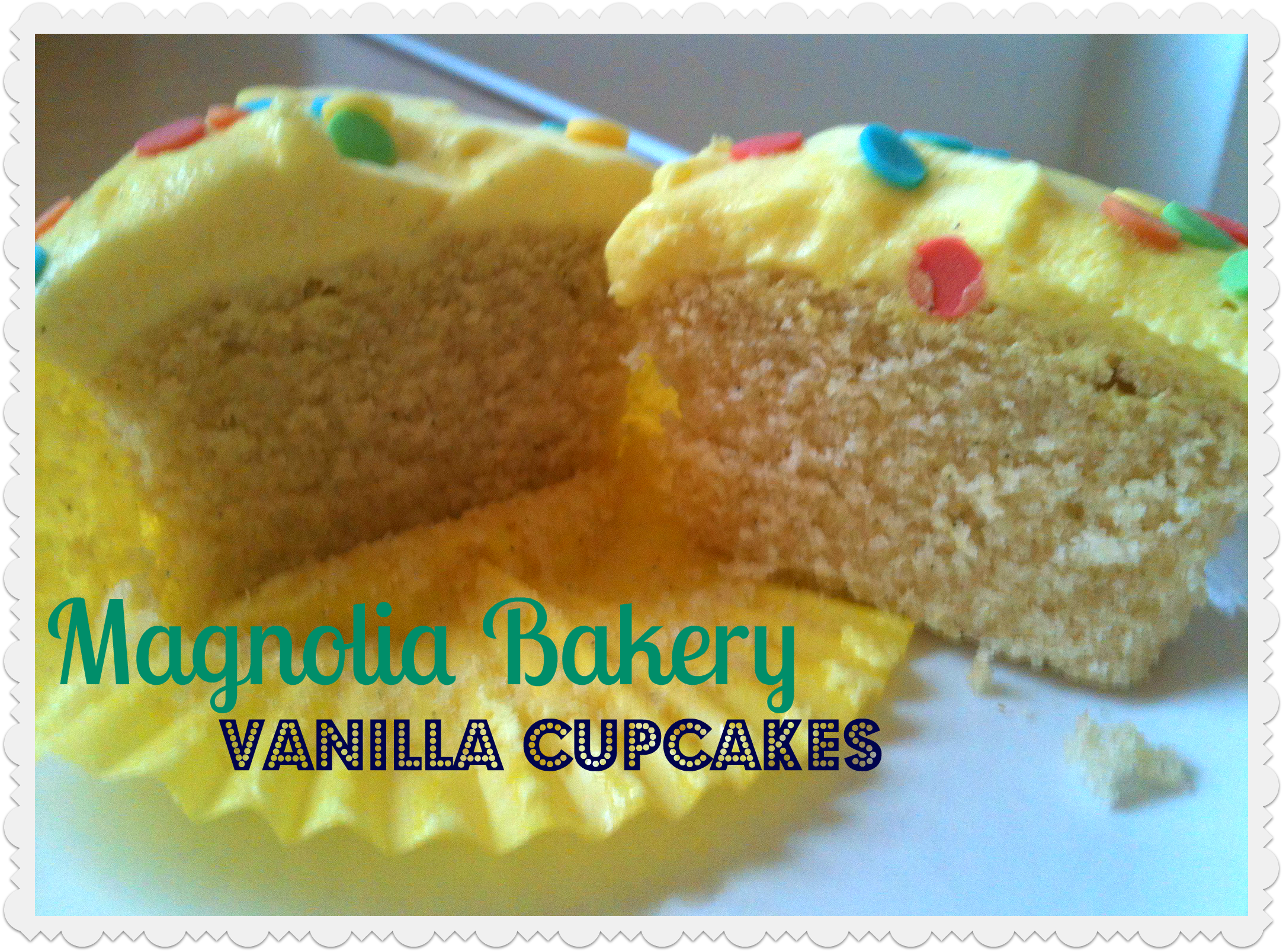 The ultimate Vanilla Cupcake? Magnolia Bakery vanilla cupcakes*% Kerry ...