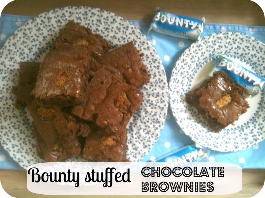 Bounty-stuffed Chocolate Fudge Brownies