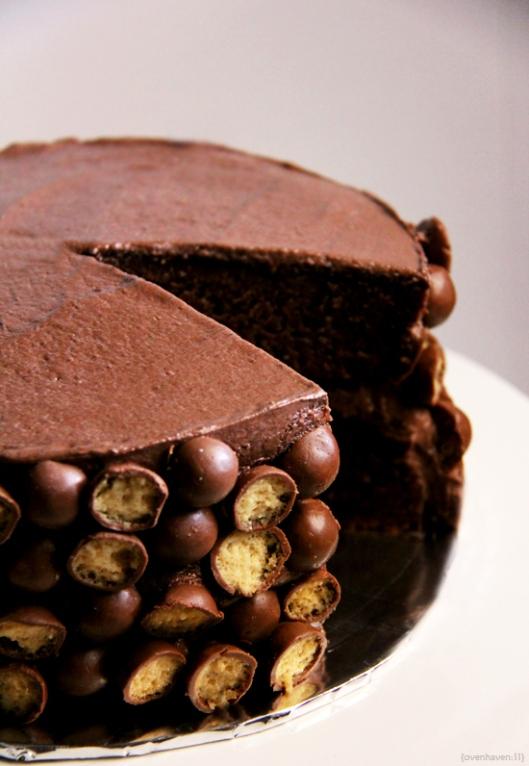 Chocolate malteser cake by epicurean escapism