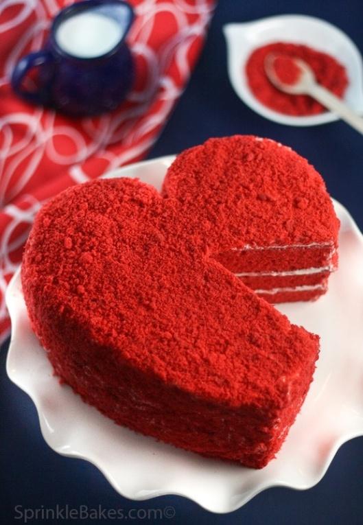 Heart Red Velvet Cake by Sprinkle Bakes