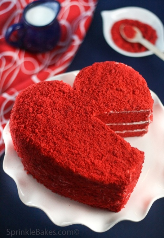 Heart Red Velvet Cake by Sprinkle Bakes