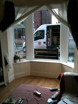 My Living room, sans window!