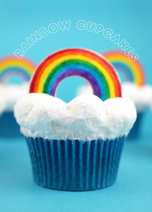 OMG AMAZING Rainbow cloud cupcakes by the talented Bakerella
