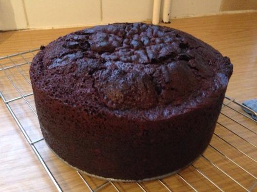 Chocolate Fudge Cake with Chocolate Espresso Cloud Frosting - recipe at Kerrycooks.com