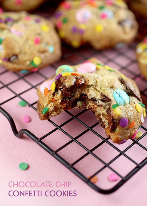 Bakerella's amazing Chocolate Chip Confetti Cookies!